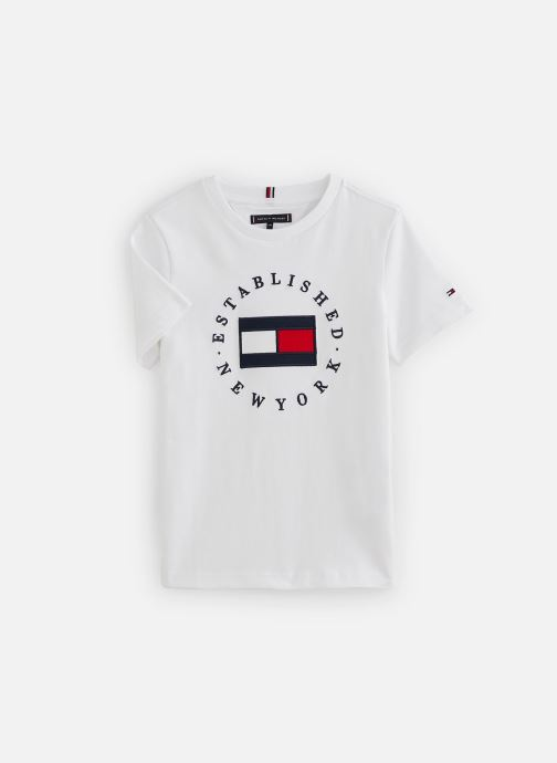 Kleding Tommy Hilfiger T-shirt Th Flag Tee S/S Wit detail