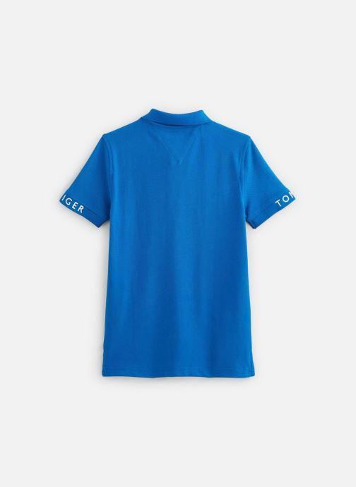 Vêtements Tommy Hilfiger Polo Sleeve Text Polo S/S Bleu vue bas / vue portée sac