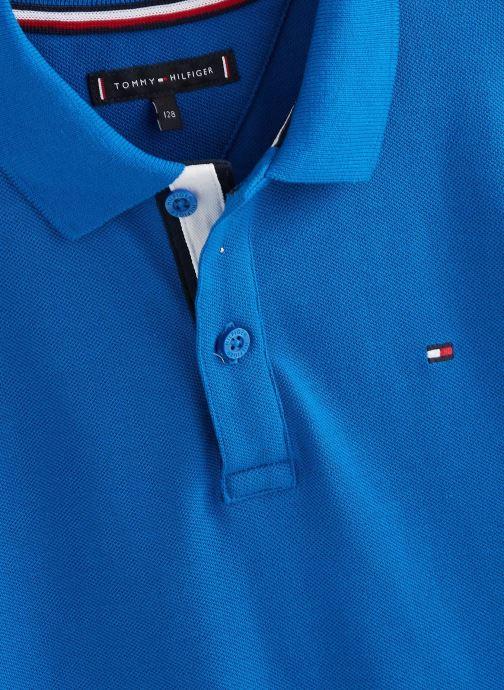 Vêtements Tommy Hilfiger Polo Sleeve Text Polo S/S Bleu vue portées chaussures