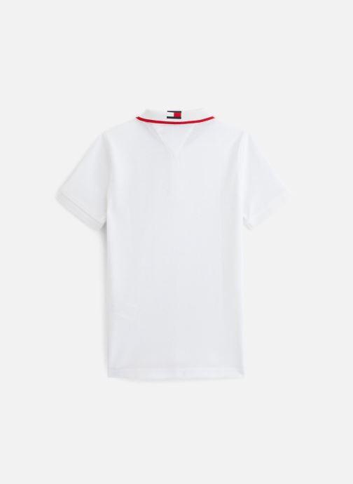 Vêtements Tommy Hilfiger Polo Intarsia Collar Polo S/S Blanc vue bas / vue portée sac