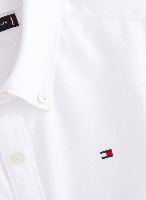 Vêtements Tommy Hilfiger Chemise Overdye Dobby Shirt L/S Blanc vue portées chaussures