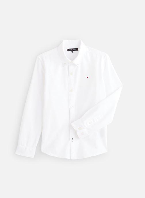 Vêtements Tommy Hilfiger Chemise Overdye Dobby Shirt L/S Blanc vue détail/paire