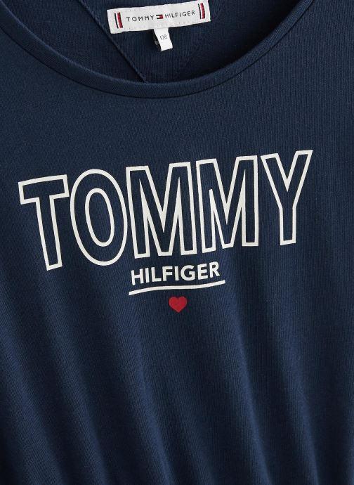 Vêtements Tommy Hilfiger Robe mini Jersey Tee Dress SS Bleu vue portées chaussures