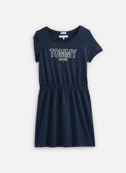 Vêtements Tommy Hilfiger Robe mini Jersey Tee Dress SS Bleu vue détail/paire