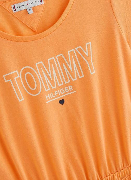 Vêtements Tommy Hilfiger Robe mini Jersey Tee Dress SS Orange vue portées chaussures