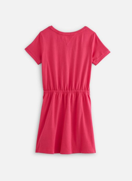 Vêtements Tommy Hilfiger Robe mini Jersey Tee Dress SS Rouge vue bas / vue portée sac