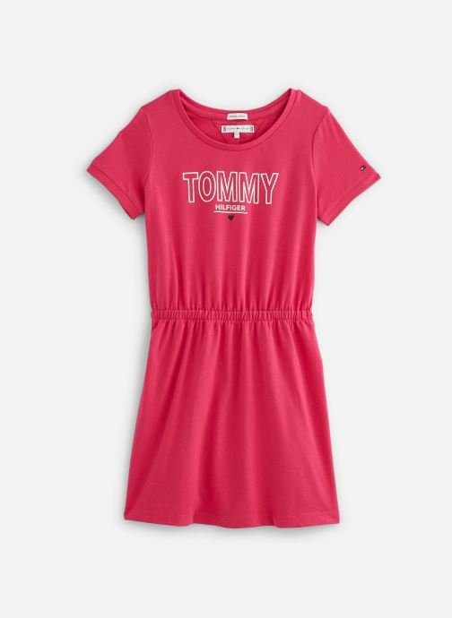 Vêtements Tommy Hilfiger Robe mini Jersey Tee Dress SS Rouge vue détail/paire