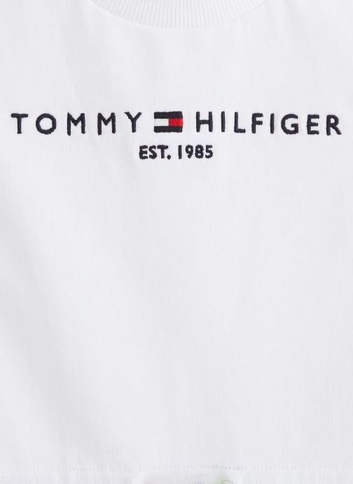Vêtements Tommy Hilfiger Robe mini Essential Dress S/S Blanc vue portées chaussures