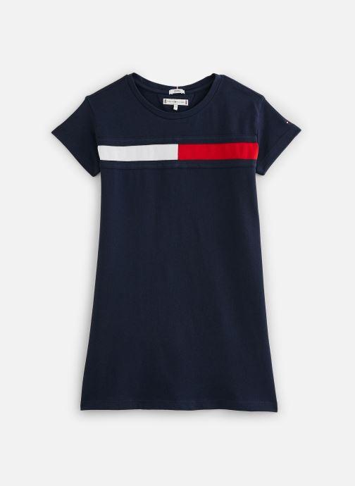 Vêtements Tommy Hilfiger Robe mini  Flag Jersey Dress S/S Bleu vue détail/paire
