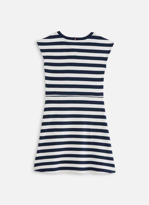 Vêtements Tommy Hilfiger Robe mini  Essential Stripe Skater Dress Ss Blanc vue bas / vue portée sac