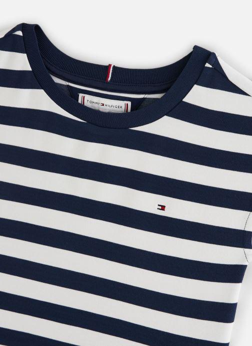 Vêtements Tommy Hilfiger Robe mini  Essential Stripe Skater Dress Ss Blanc vue portées chaussures