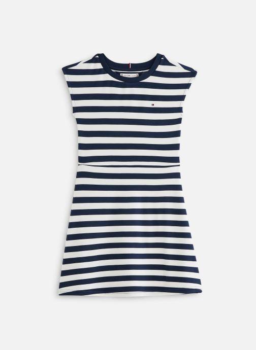 Vêtements Tommy Hilfiger Robe mini  Essential Stripe Skater Dress Ss Blanc vue détail/paire