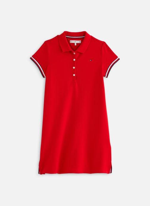 Tøj Tommy Hilfiger Robe mini Essential Polo Dress S/S Rød detaljeret billede af skoene