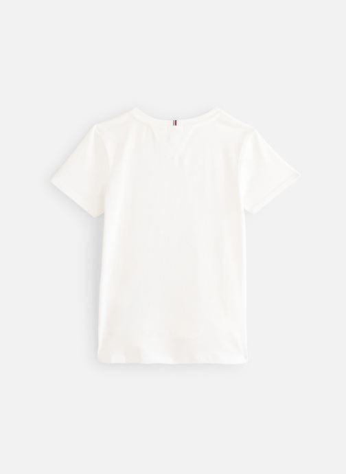 Tøj Tommy Hilfiger T-shirt Essential  Tee S/S Hvid se forneden