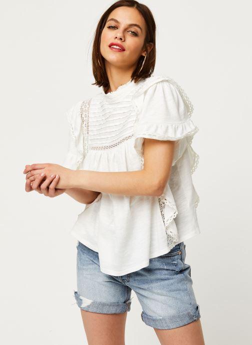 Vêtements Free People LE FEMME TEE Blanc vue droite