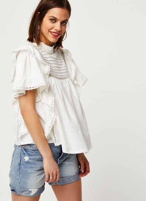 Vêtements Free People LE FEMME TEE Blanc vue détail/paire