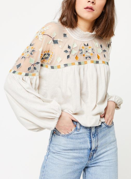 Vêtements Free People MONDAY MORNING TOP Beige vue droite