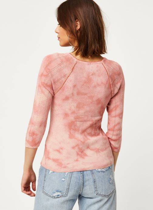 Vêtements Free People RORY HENLEY TEE Rose vue portées chaussures
