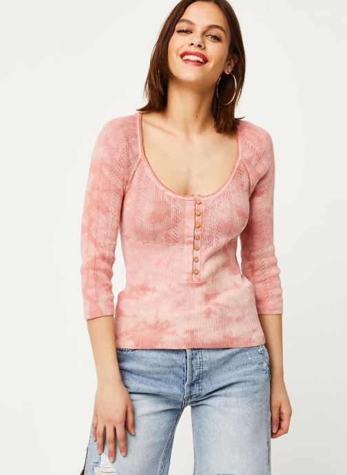 Vêtements Free People RORY HENLEY TEE Rose vue droite