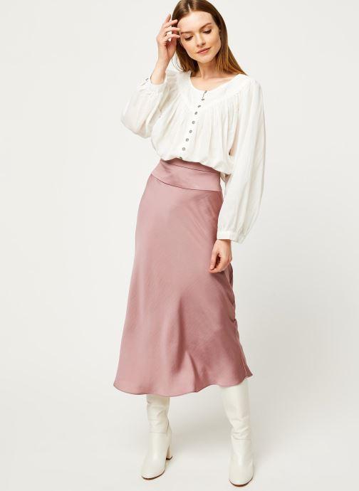 Vêtements Free People COOL MEADOW TOP Blanc vue bas / vue portée sac