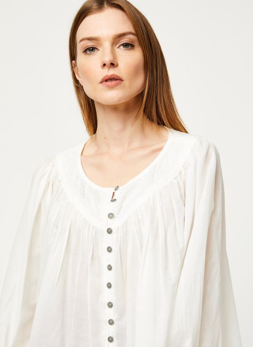 Vêtements Free People COOL MEADOW TOP Blanc vue face