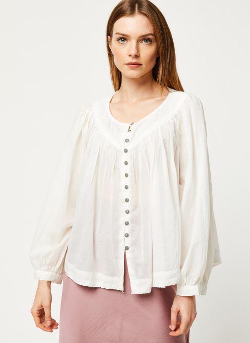 Vêtements Free People COOL MEADOW TOP Blanc vue droite