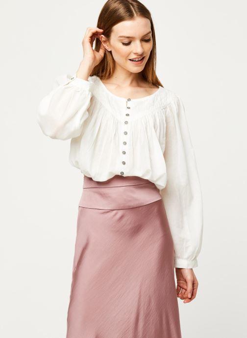 Vêtements Free People COOL MEADOW TOP Blanc vue détail/paire