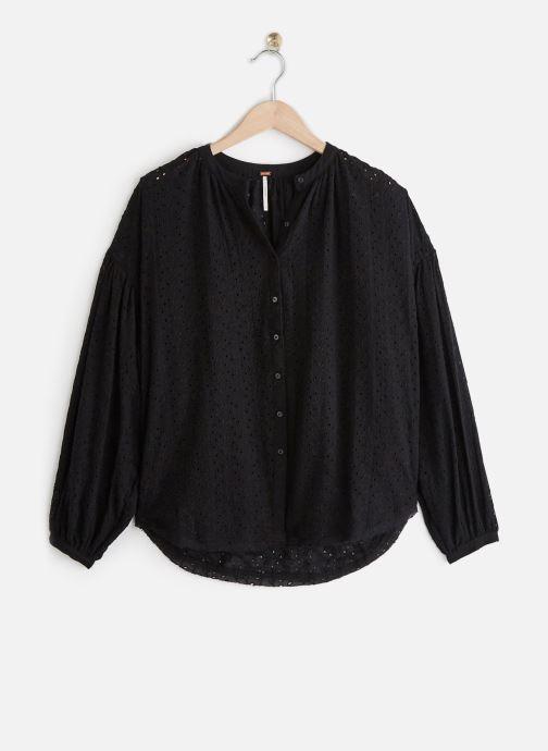 Vêtements Free People MADDISON EYELET BLOUSE Noir vue détail/paire