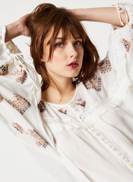 Vêtements Free People SWEET EMOTION TOP Blanc vue face