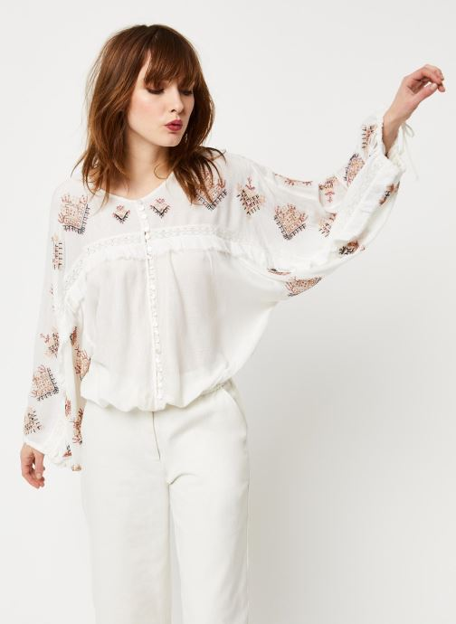 Vêtements Free People SWEET EMOTION TOP Blanc vue détail/paire