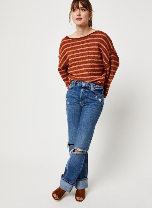 Vêtements Free People BARDOT SWEATER Marron vue bas / vue portée sac