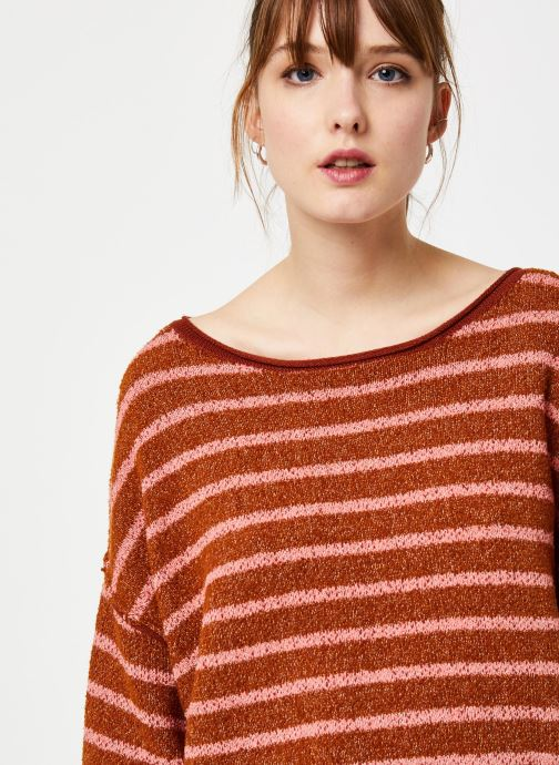 Vêtements Free People BARDOT SWEATER Marron vue face
