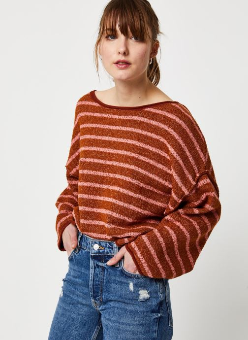 Vêtements Free People BARDOT SWEATER Marron vue détail/paire