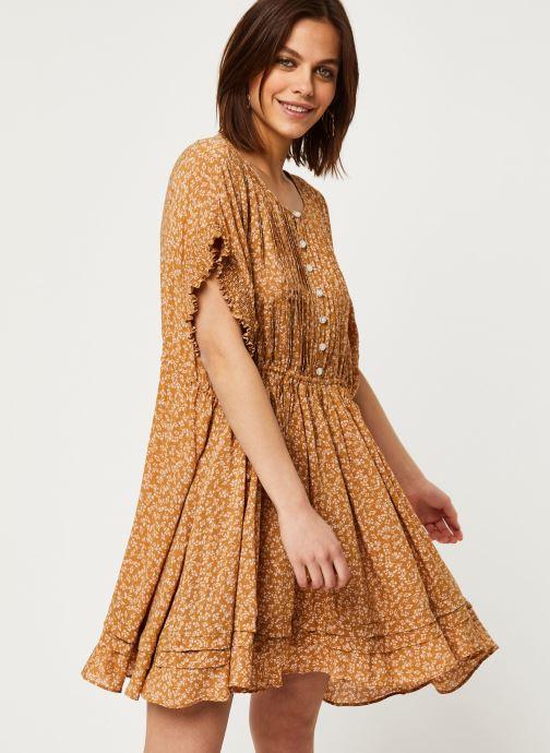 Vêtements Free People ONE FINE DAY MINI DRESS Marron vue détail/paire