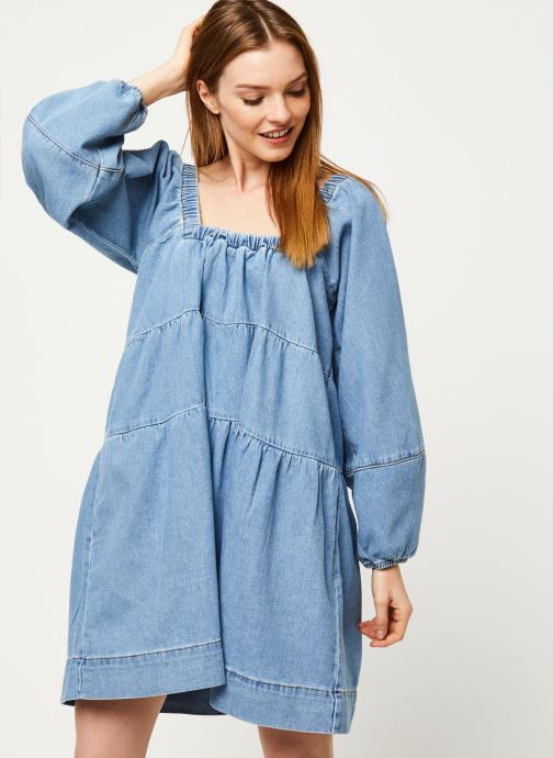 Vêtements Free People BLUE JEAN BABYDOLL DRESS Bleu vue détail/paire