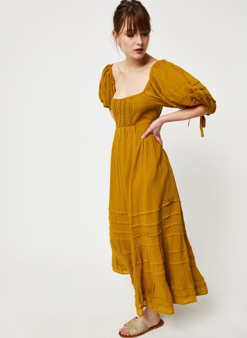 Free People Robe maxi - Lets Be Friends Midi Dress (Jaune) - Vêtements (416373)