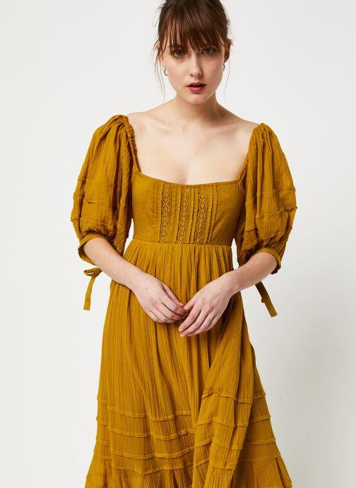 Vêtements Free People LETS BE FRIENDS MIDI DRESS Jaune vue droite