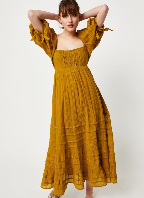 Vêtements Free People LETS BE FRIENDS MIDI DRESS Jaune vue détail/paire