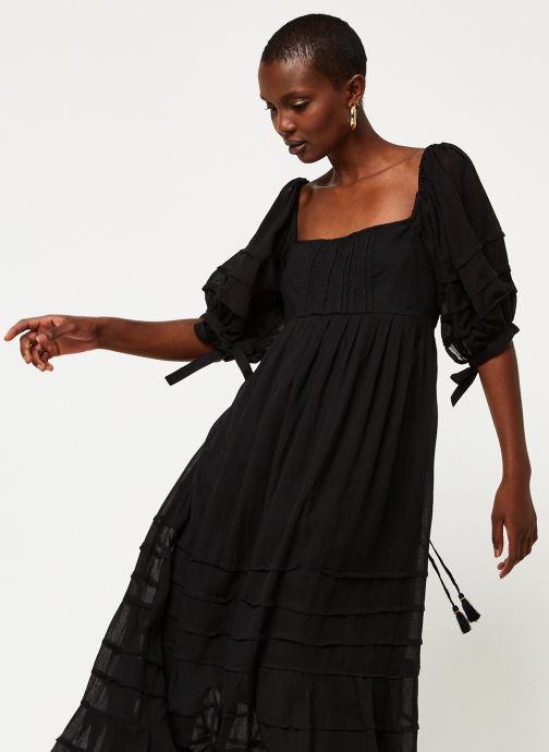 Vêtements Free People LETS BE FRIENDS MIDI DRESS Noir vue détail/paire
