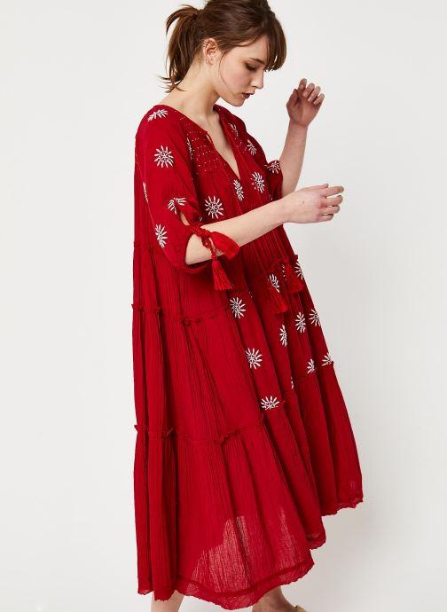 Vêtements Free People CELESTIAL SKIES MAXI DRESS Rouge vue droite