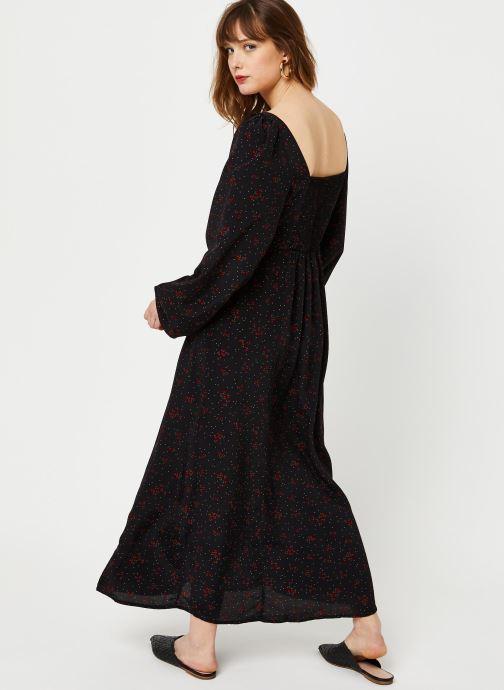 Vêtements Free People IRIS MIDI DRESS Noir vue portées chaussures