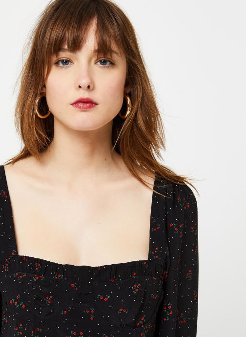 Vêtements Free People IRIS MIDI DRESS Noir vue face