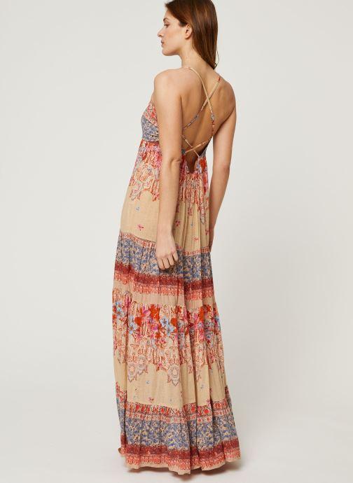 Vêtements Free People GIVE A LITTLE MAXI DRESS Multicolore vue portées chaussures