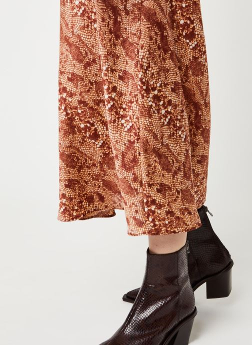 Vêtements Free People NORMANI BIAS PRINTED SKIRT Marron vue face