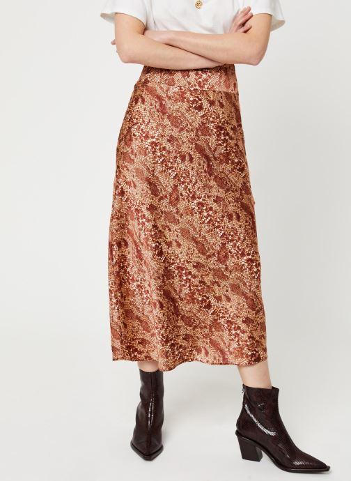 Vêtements Free People NORMANI BIAS PRINTED SKIRT Marron vue détail/paire