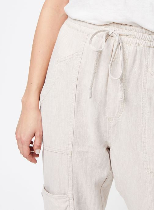 Vêtements Free People FEELIN GOOD UTILITY PULL TROUSER Blanc vue face