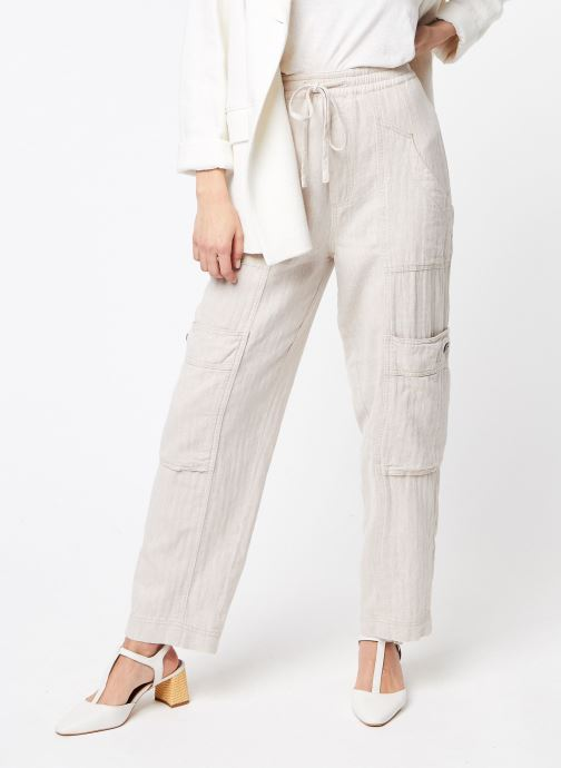 Vêtements Free People FEELIN GOOD UTILITY PULL TROUSER Blanc vue détail/paire