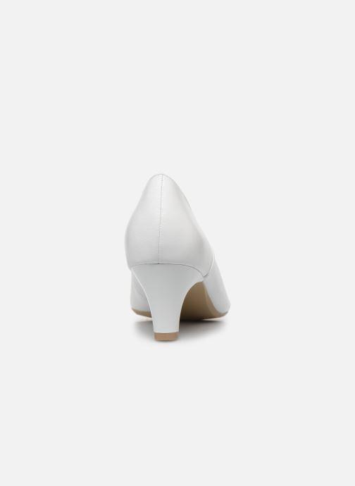 Zapatos de tacón Caprice Tao Blanco vista lateral derecha
