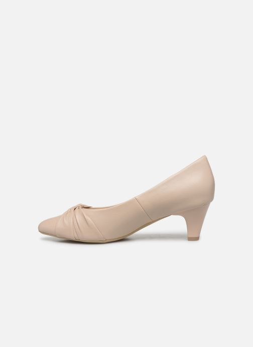Zapatos de tacón Caprice Tiare Beige vista de frente
