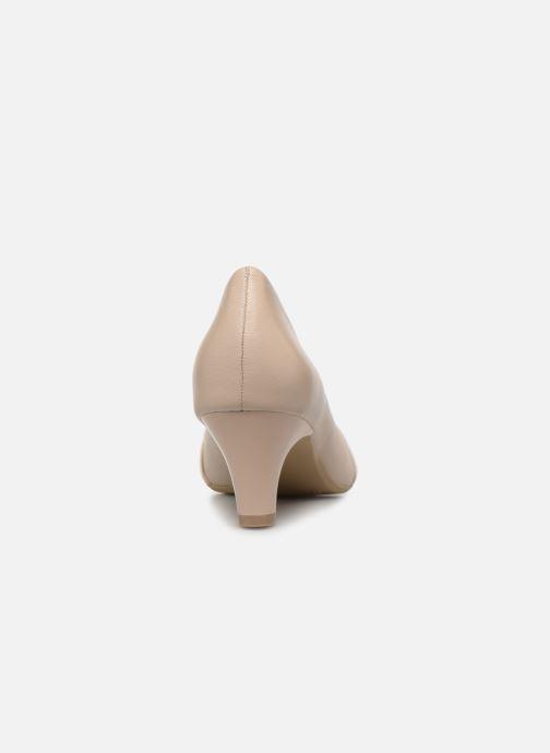 Zapatos de tacón Caprice Tiare Beige vista lateral derecha